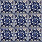 hacienda Mexican tiles blue white