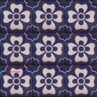 colonial Mexican tiles white navy blue