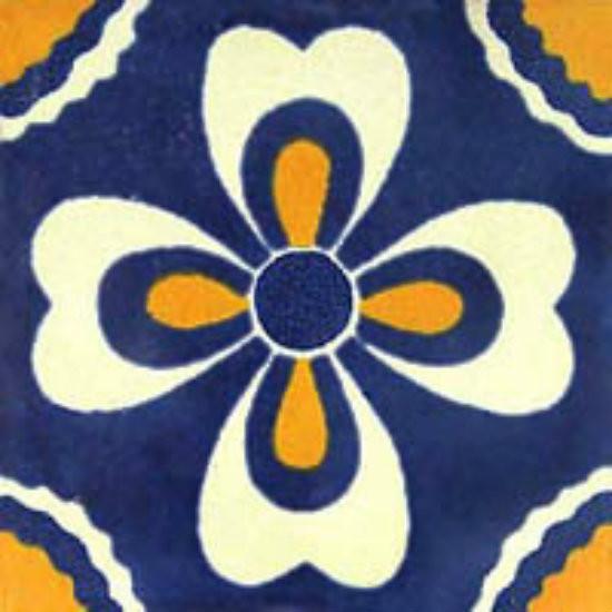 Mexican tile white yellow