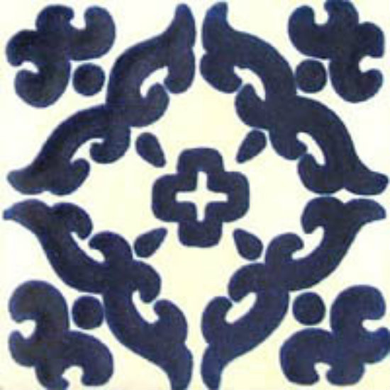 Mexican tile dark blue white