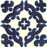 Mexican tile dark blue white