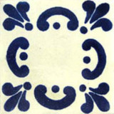Mexican tile navy blue white