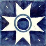 Mexican tile white blue
