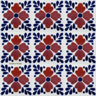Mexican tiles terracotta blue