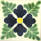 Mexican tile green dark blue