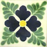 Mexican tile green dark blue