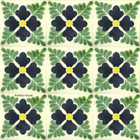 Mexican tiles green dark blue