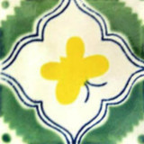 Mexican tile green yellow