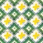 Mexican tiles green yellow