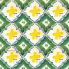 Mexican tiles green yellow