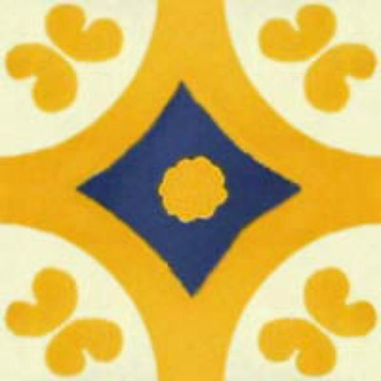 Mexican tile yellow blue
