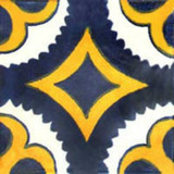 Mexican tile yellow navy blue