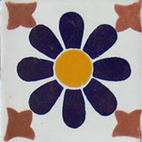 Mexican tile cobalt white