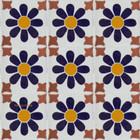 Mexican tiles cobalt white