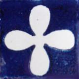 Mexican tile white cobalt
