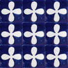 Mexican tiles white cobalt