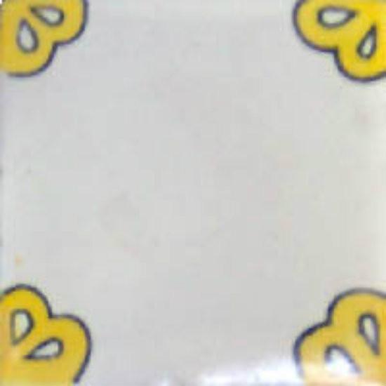 Mexican tile yellow white