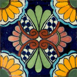 Mexican tile yellow cobalt