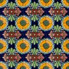 Mexican tiles yellow cobalt