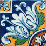 Mexican tile folk art