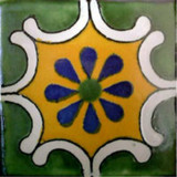 Mexican tile old European