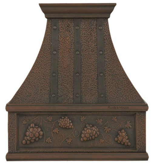 decorative copper range hood