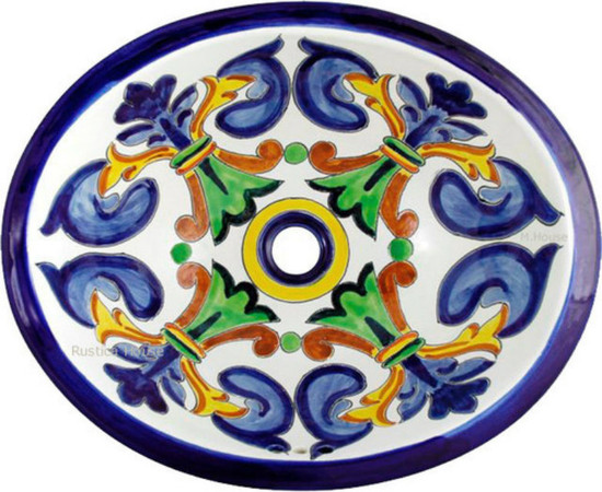 Decorative mexican bathroom sink.