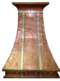 copper range hood nickel-platted straps