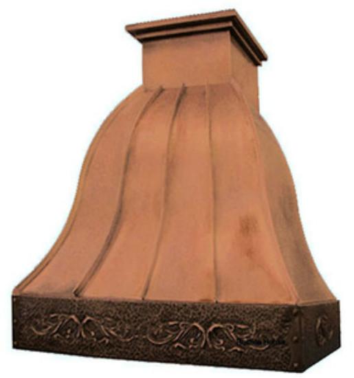 decorative copper range hood