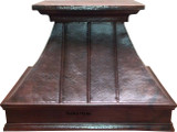 under cabinet copper range hood