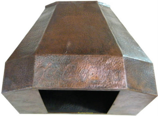 spanish copper range hood