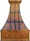 copper range hood dark straps