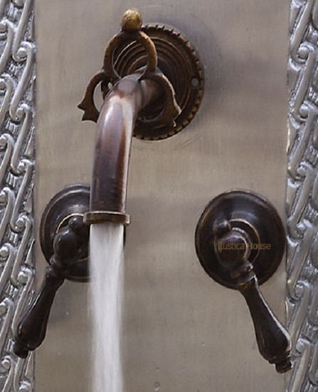 classic colonial bath wall bronze faucet