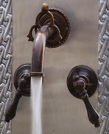 classic colonial bath wall bronze faucet
