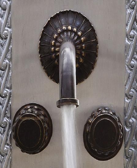 colonial hacienda bath wall bronze faucet