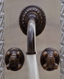 modern bath wall bronze faucet