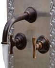 wall mount bath hacienda bronze faucet