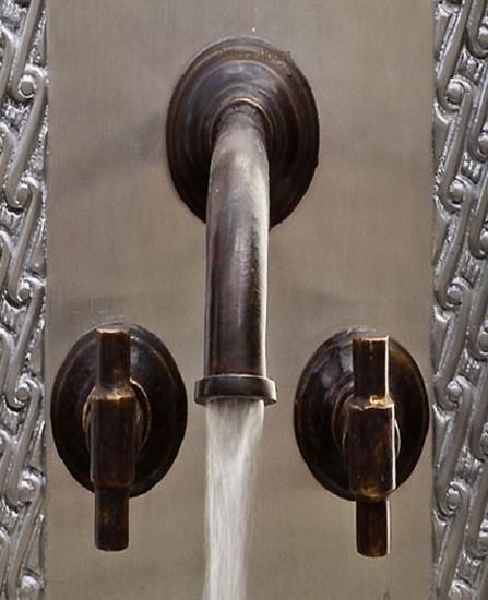 colonial bath wall bronze faucet