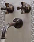 wall mount bath conventional bronze faucet