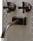 wall mount bath traditional bronze faucet