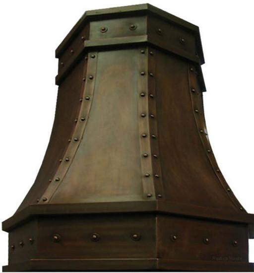 copper vent hood island