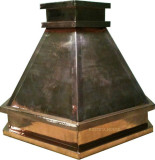 hand polished copper range hood