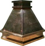 hand polished copper range hood