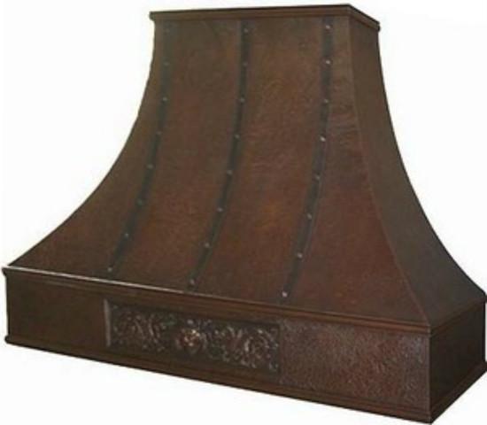 traditional copper range hood