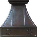 hammered copper kitchen hood
