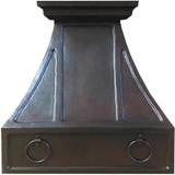 hammered copper kitchen hood
