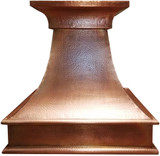 rustic range hood made from copper