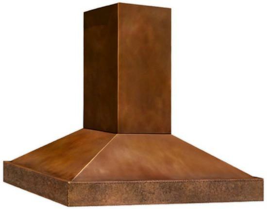slim copper range hood
