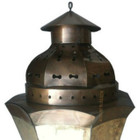 punched foyer tin lamp