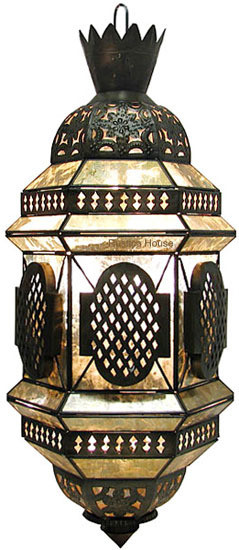 hammered tin chandelier